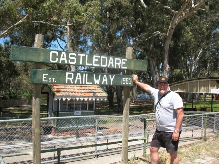 Mike at the Castledare station, Perth, Western Australia.
