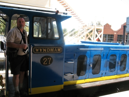 Mike on the loco at Whitemans Park, Perth, Western Australia.