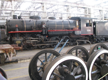 Loco at The Workshops Rail Museum.