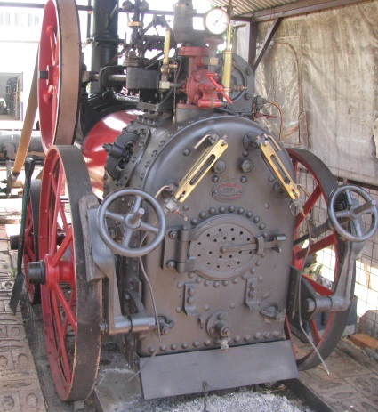 a Robey Portable Steam Engine, built in Lincoln, England, 1910.