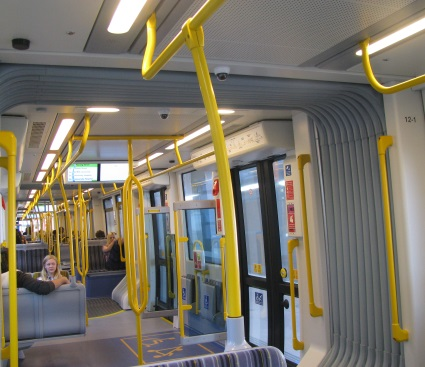 Interior of the Gold Coast G: Tram.
