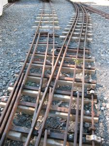 New track in the station yard.