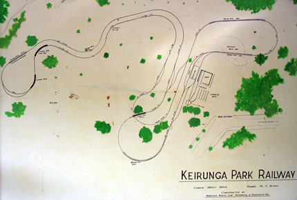 Map of Keirunga Railway track