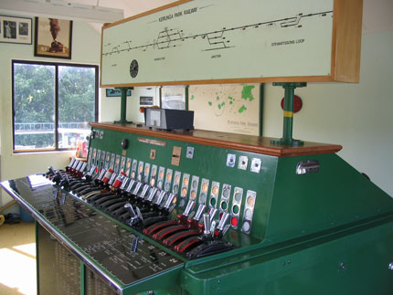 View inside the signal box
